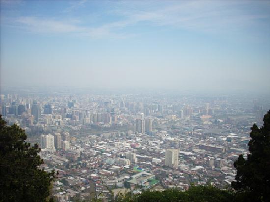 Vista desde el cerro san cristobal santiago chile