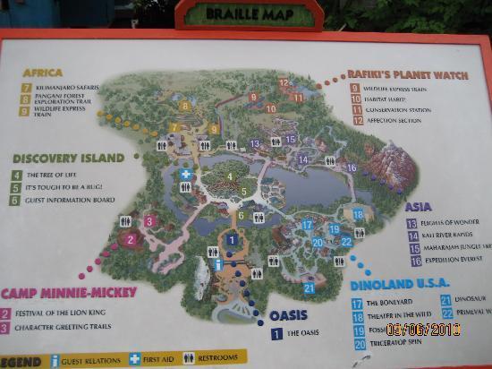 Walt Disney World Resort : Animal Kingdom Map