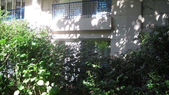 Pierre & Vacances Residenz Les Rivages du Parc: Vue d'un studio depuis le square