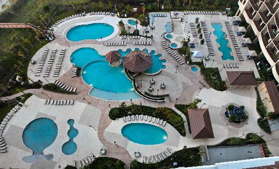 North Beach Plantation Outdoor Pool Complex From Indigo Tower