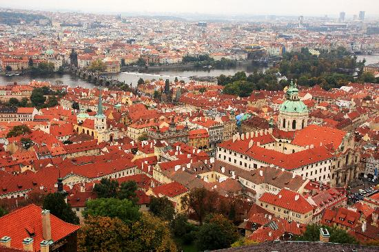 Anna Hotel: Over looking Prague, taken from the tower of St. Vitus.