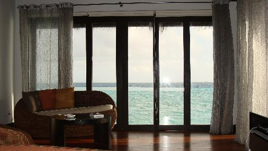 Morning view from the Water villa