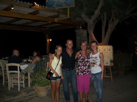 Ferryman Taverna: Us again stood outside the restaurant