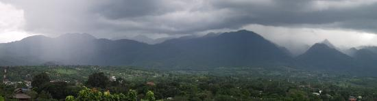 Overlooking Pai town.