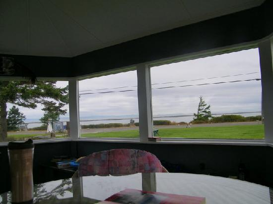 Juan de Fuca Cottages: view from the gazebo