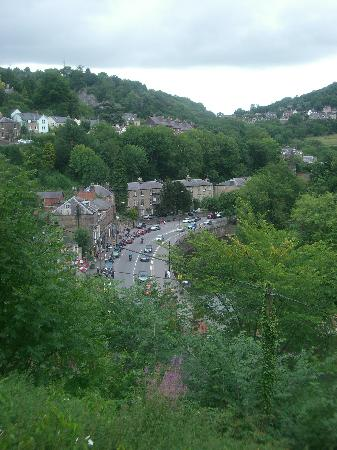 The Temple: View of Matlock Bath from hotel front