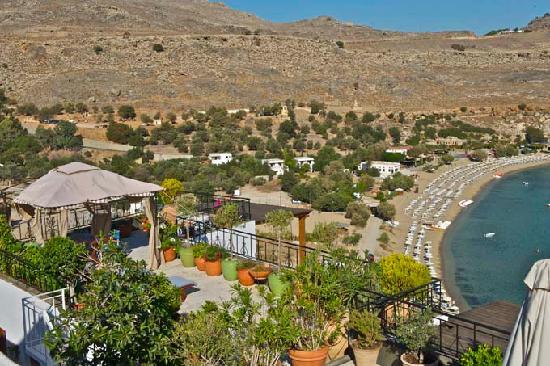 Melenos Lindos Hotel: Blick vom Frühstückstisch