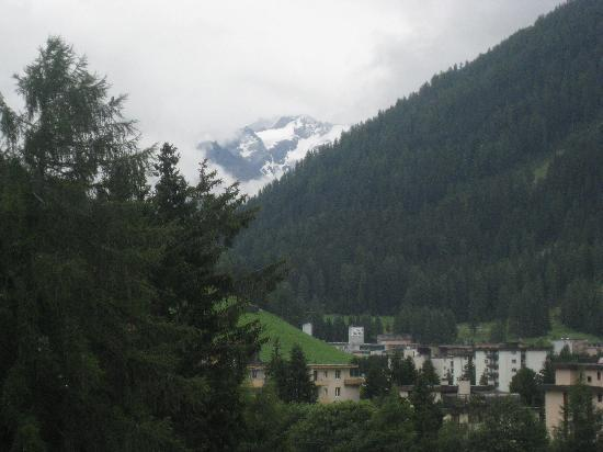 Hotel Seehof Davos: View from balcony (Zoomed in)