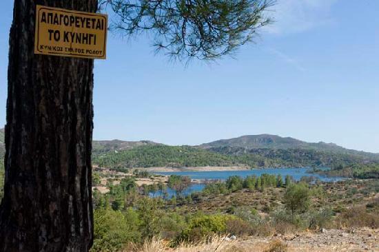 Rhodes, Greece: Frischwasserstausee