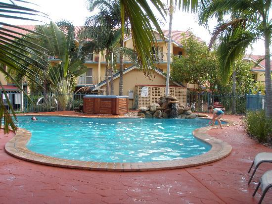 at Beach Court Holiday Villas: the pool