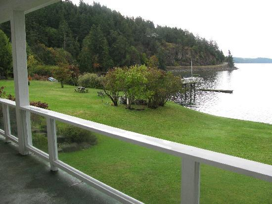 Cabins on the Point: View from our spacious deck!