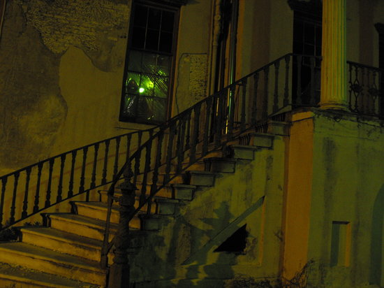 Hearse Ghost Tours: Old hospital (do you see a face in the window?)