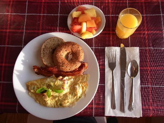 Bayside Bed & Breakfast: 朝食