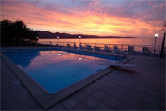 Hotel Tettola: coucher de soleil en terrasse