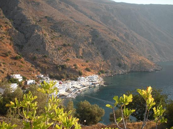 Лутро, Греция: Loutro from the west