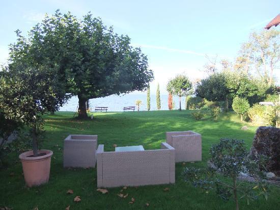 Hotel Haus am See: Morgens im Garten