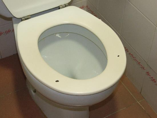 Hotel Golden Port Salou : worn out toilet seat