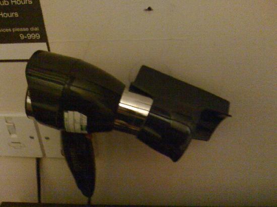 Queens Hotel: broken hairdryer