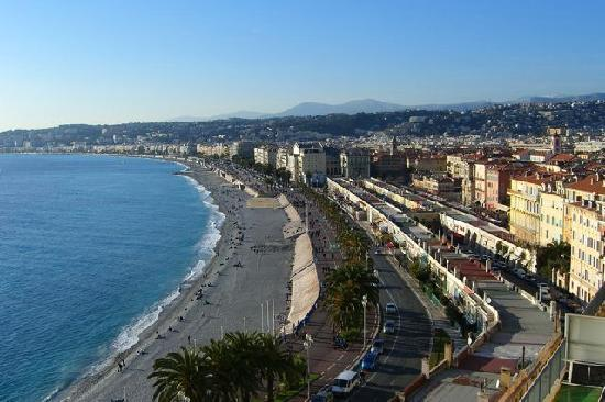 Nice, France: Beach & Blvd d'Anglais