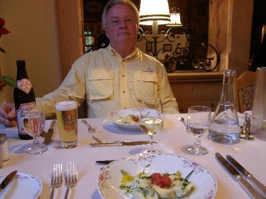 A fine dinner at Chalet Hotel Gletschergarten, Grindelwald, Switzerland