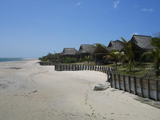 Vilanculos, Mozambik: The beachside lodges