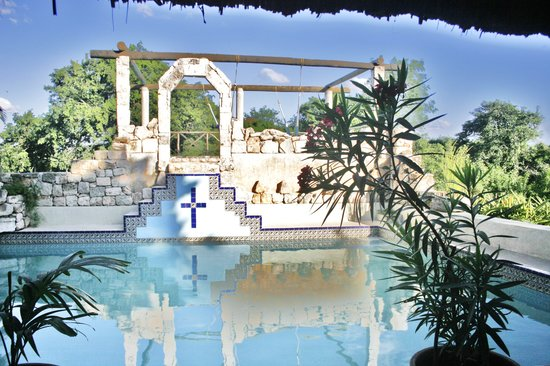 Hacienda Hotel Santo Domingo: Mayan pool at HSD