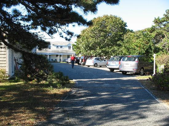 Dennis Port, MA: The parking/room entrance area