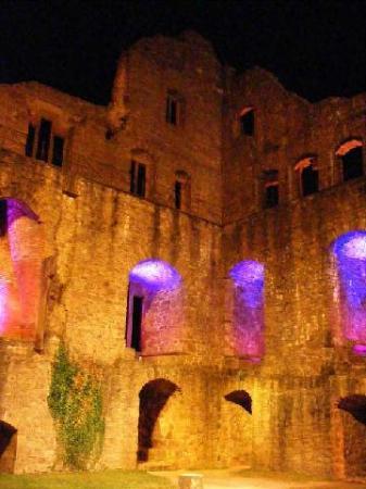 Altes Schloss Hohenbaden all lit up