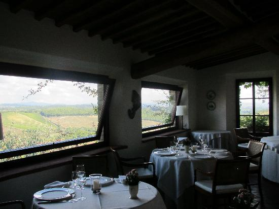 Hotel Le Fontanelle: Does your dining room have this view -- or this food?