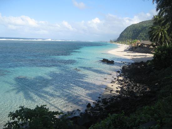 Faofao Beach Fales: Christal clear lagoon
