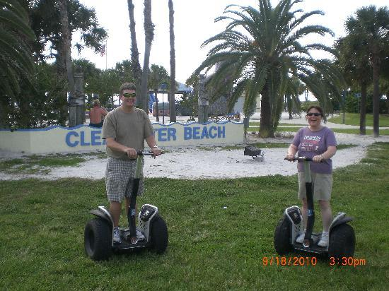 Clearwater Gliders Segway Adventures: Standing easily on Segways at Clearwater Beach