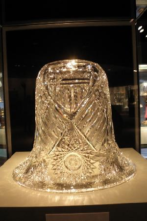 Corning, NY: Cut glass liberty bell
