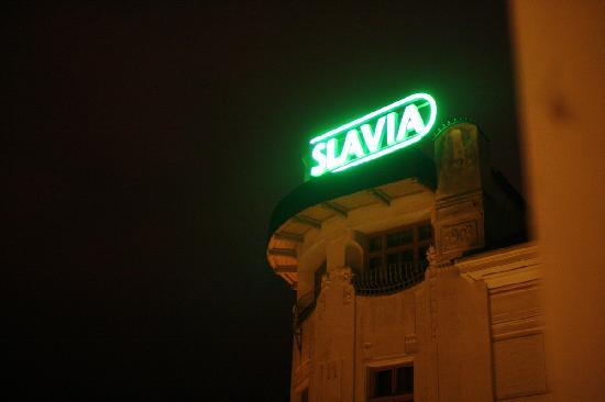 Hotel SLAVIA: scale in the room!