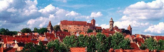 Blick über die Nürnberger Kaiserburg