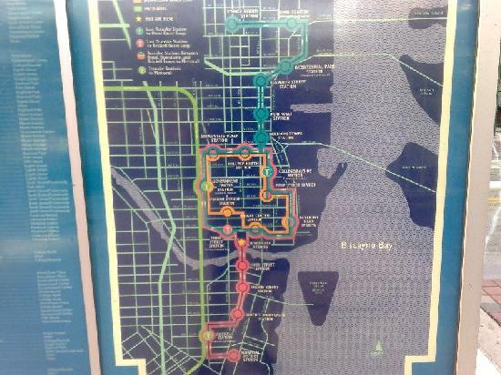 Metromover: Routenplan