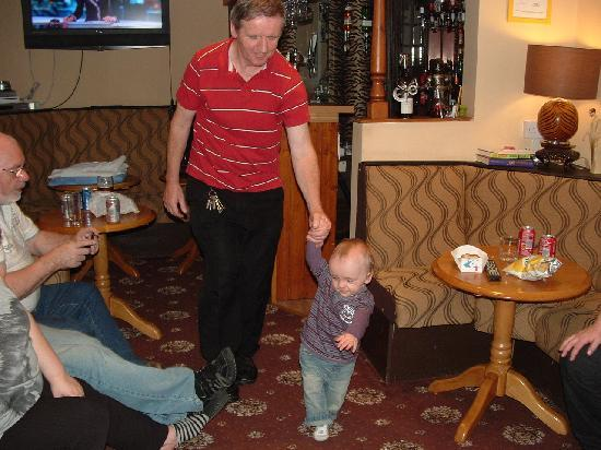 The Bluebell Hotel: Uncle Dave doing his rounds with my grandson Mathew