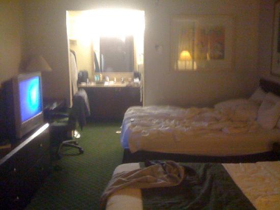 Fairfield Inn Anaheim Resort: Room = dark, dingy, dreary, miserable.