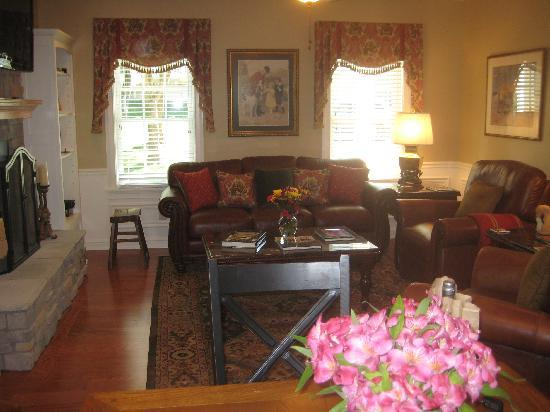 A Storybook Inn: View of living room from kitchen