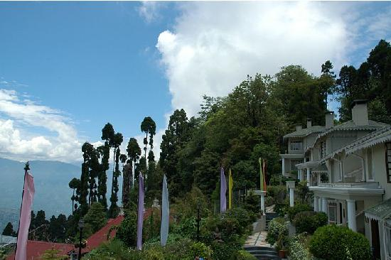 Mayfair Darjeeling: a view of the hotel