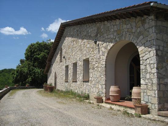 Azienda Agricola Cercignano: Reception Hall overlooking Tuscany