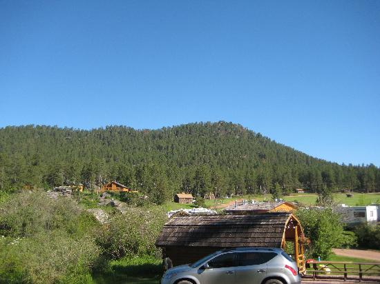 View of campgrounds from our kabin.
