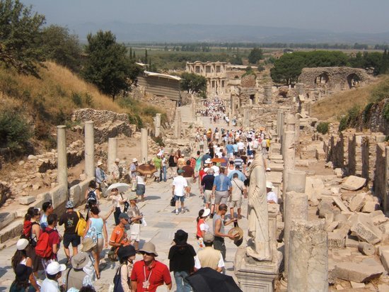 Ekol Travel - Day Tours: Looking toward Celsus Library