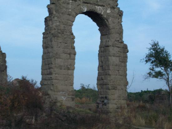 Check out the Roman aquaducts on the way to Frascati.
