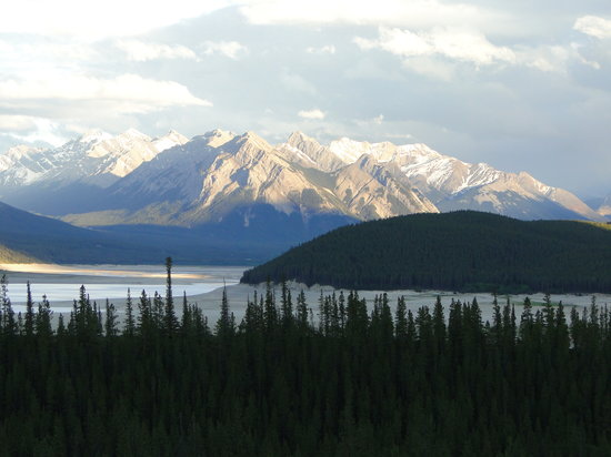 Nordegg, Kanada: Scenery behind Abraham Lake