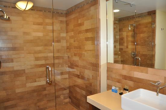 Hotel Abrego: large shower