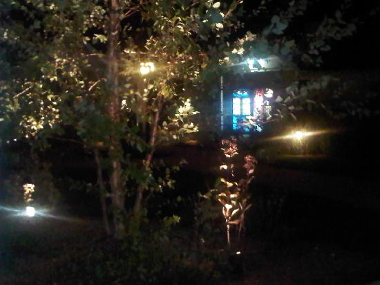 The Inn at Herrington Harbour: View from our porch at night- very pretty