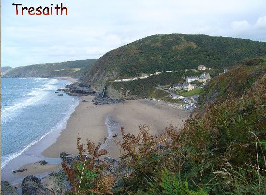 Ceredigion Coast Path: view from the Aberporth to Tresaith walk