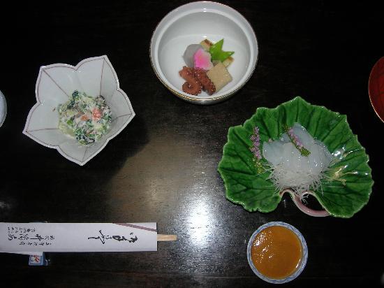 Traditional Kyoto Inn Serving Kyoto Cuisine IZUYASU: part of the dinner