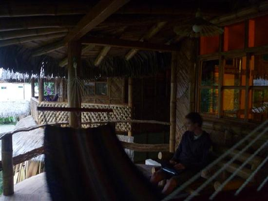 Balsa Surf Camp: Chilling on our balcony