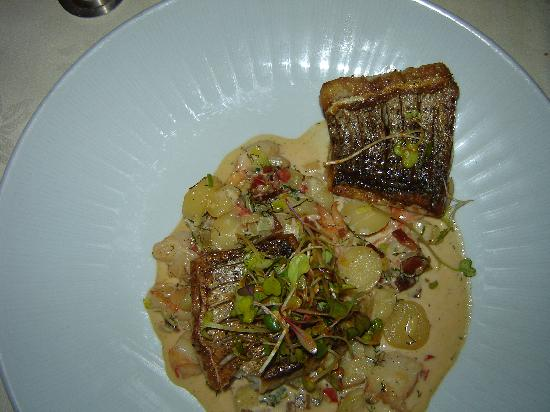 "The Ivy Inn Restaurant : Rockfish With Shrimp and Potato ""Chowder"""